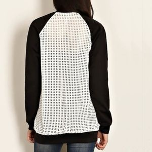 Lemon Tree Jackets & Coats - B2G1 Fishnet Zipper Front Raglan Athletic Jacket